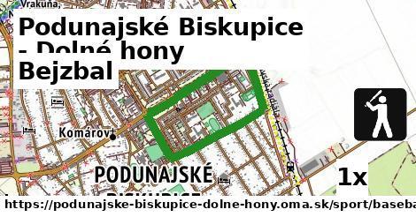 bejzbal v Podunajské Biskupice - Dolné hony