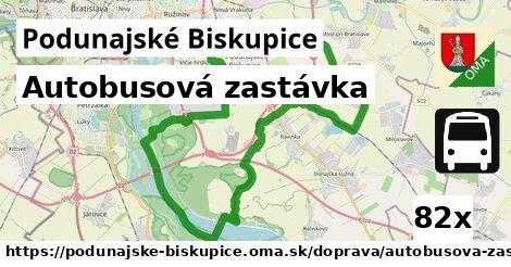autobusová zastávka v Podunajské Biskupice