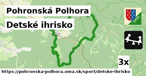 detské ihrisko v Pohronská Polhora