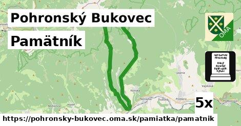 pamätník v Pohronský Bukovec