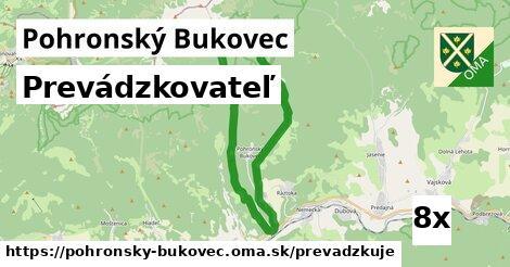 prevádzkovateľ v Pohronský Bukovec