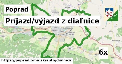 Príjazd/výjazd z diaľnice, Poprad