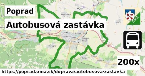 autobusová zastávka v Poprad