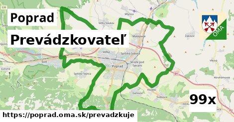prevádzkovateľ v Poprad
