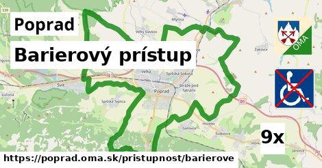 barierový prístup v Poprad