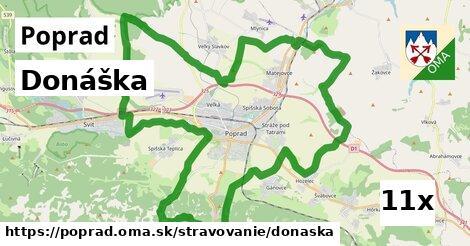 donáška v Poprad