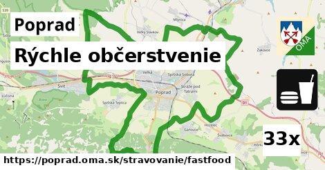 rýchle občerstvenie v Poprad