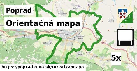 Orientačná mapa, Poprad