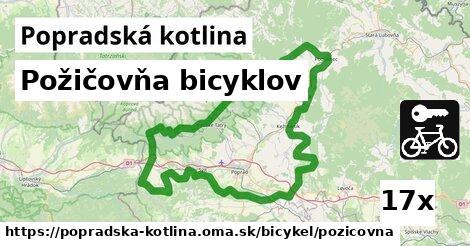požičovňa bicyklov v Popradská kotlina