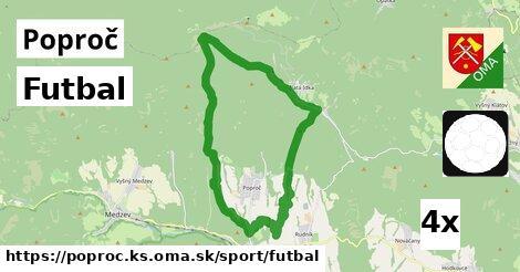 futbal v Poproč, okres KS