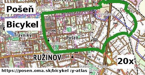 bicykel v Pošeň