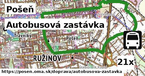 Autobusová zastávka, Pošeň
