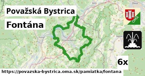fontána v Považská Bystrica