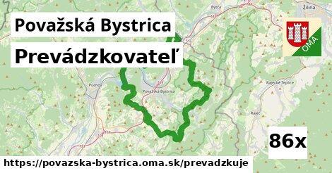 prevádzkovateľ v Považská Bystrica