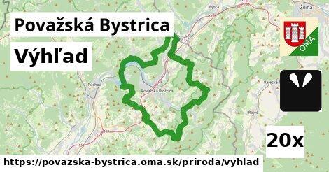 výhľad v Považská Bystrica