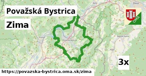 zima v Považská Bystrica
