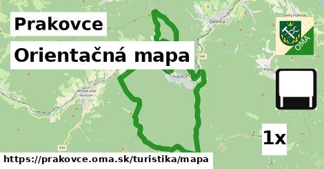 orientačná mapa v Prakovce