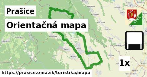 orientačná mapa v Prašice