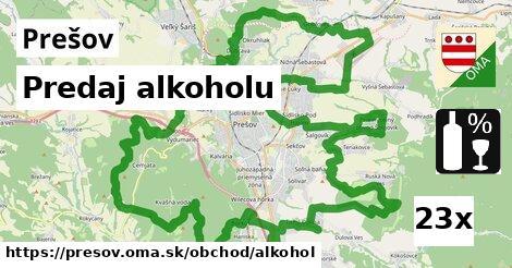Predaj alkoholu, Prešov