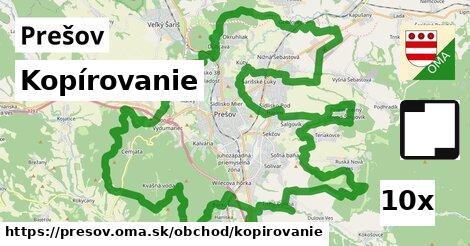 Kopírovanie, Prešov