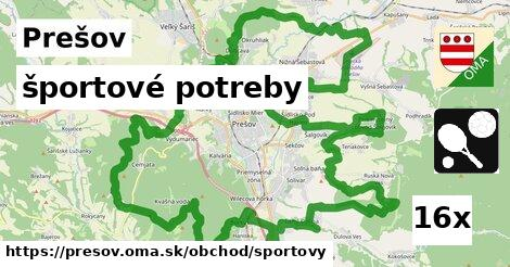 športové potreby, Prešov