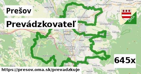 prevádzkovateľ v Prešov