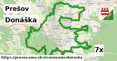donáška v Prešov