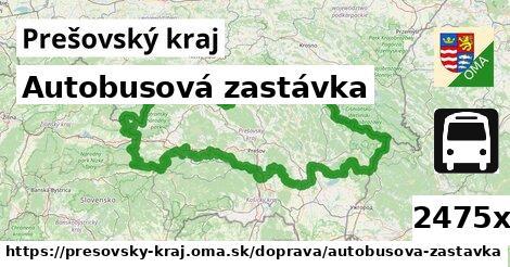 autobusová zastávka v Prešovský kraj