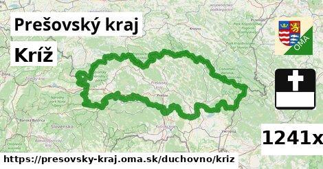kríž v Prešovský kraj