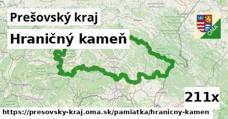 hraničný kameň v Prešovský kraj