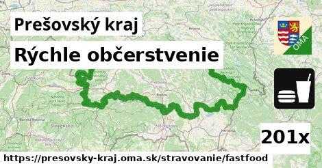rýchle občerstvenie v Prešovský kraj