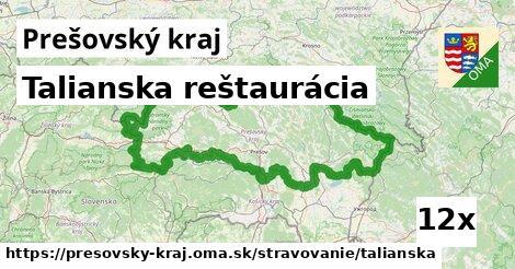 talianska reštaurácia v Prešovský kraj