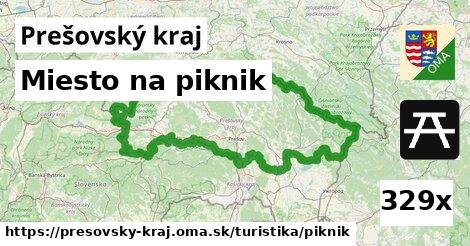 miesto na piknik v Prešovský kraj