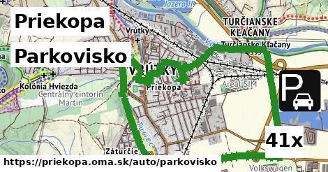 parkovisko v Priekopa
