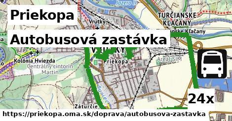 autobusová zastávka v Priekopa