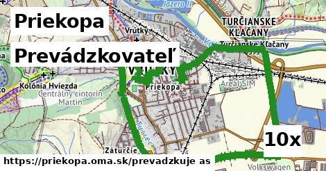 prevádzkovateľ v Priekopa