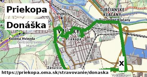 donáška v Priekopa