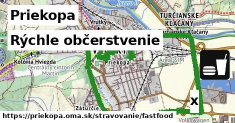 rýchle občerstvenie v Priekopa