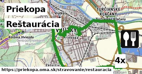 reštaurácia v Priekopa