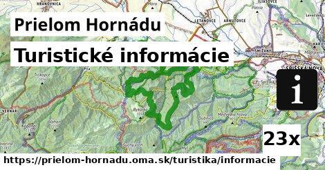 turistické informácie v Prielom Hornádu