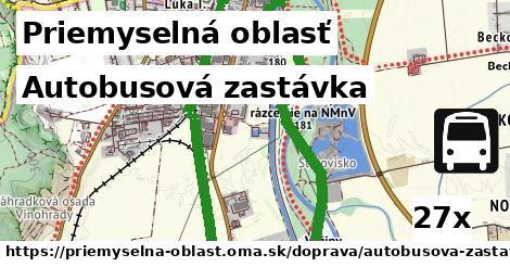 autobusová zastávka v Priemyselná oblasť