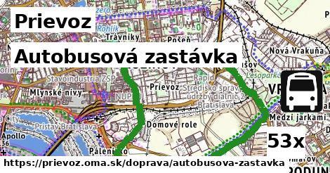 autobusová zastávka v Prievoz