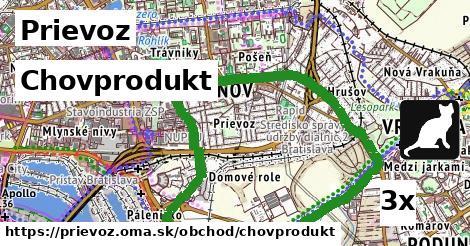 chovprodukt v Prievoz