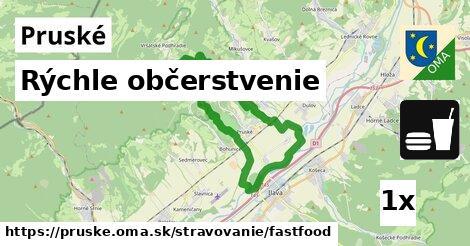 rýchle občerstvenie v Pruské