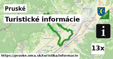 turistické informácie v Pruské