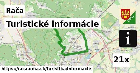 Turistické informácie, Rača