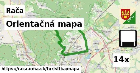 Orientačná mapa, Rača