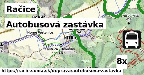 autobusová zastávka v Račice