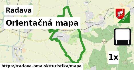 orientačná mapa v Radava