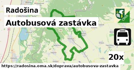 autobusová zastávka v Radošina